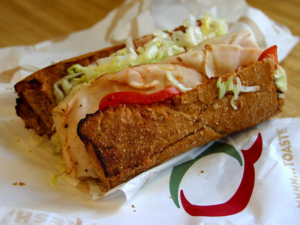 Sandwiches like this Quizno's sub rate among the very best fast foods out there today ... photo by CC user Jon Sullivan on pdphoto.org