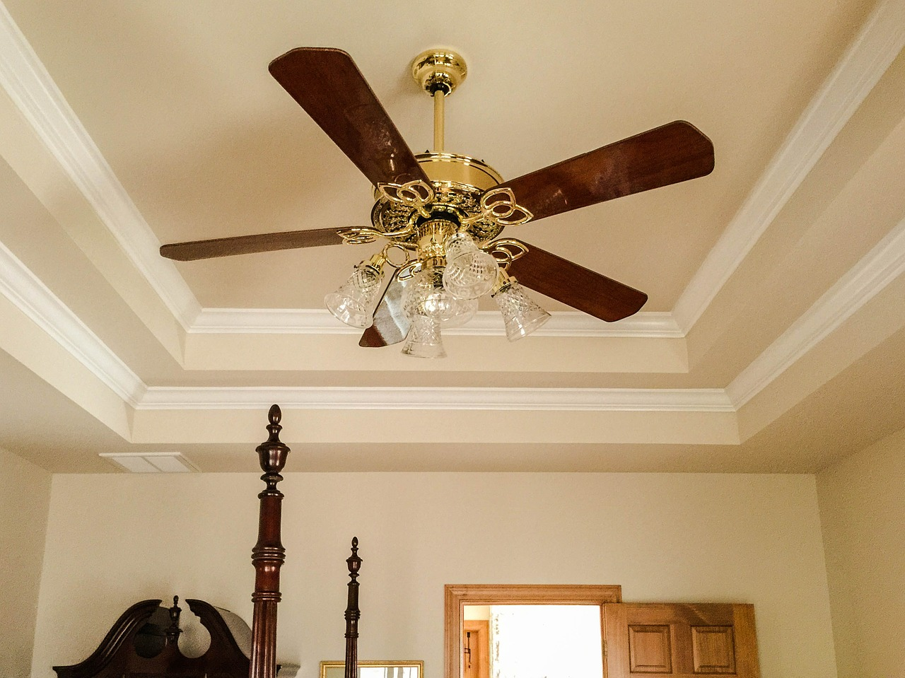 The humble Ceiling Fan may be criticized by some, but it is has many useful purposes in your home ... photo by CC user JamesDeMers on pixabay
